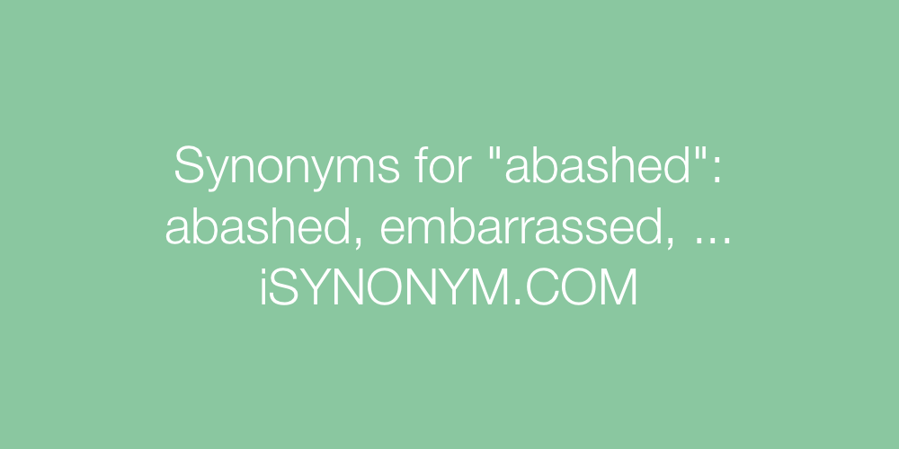 Synonyms abashed