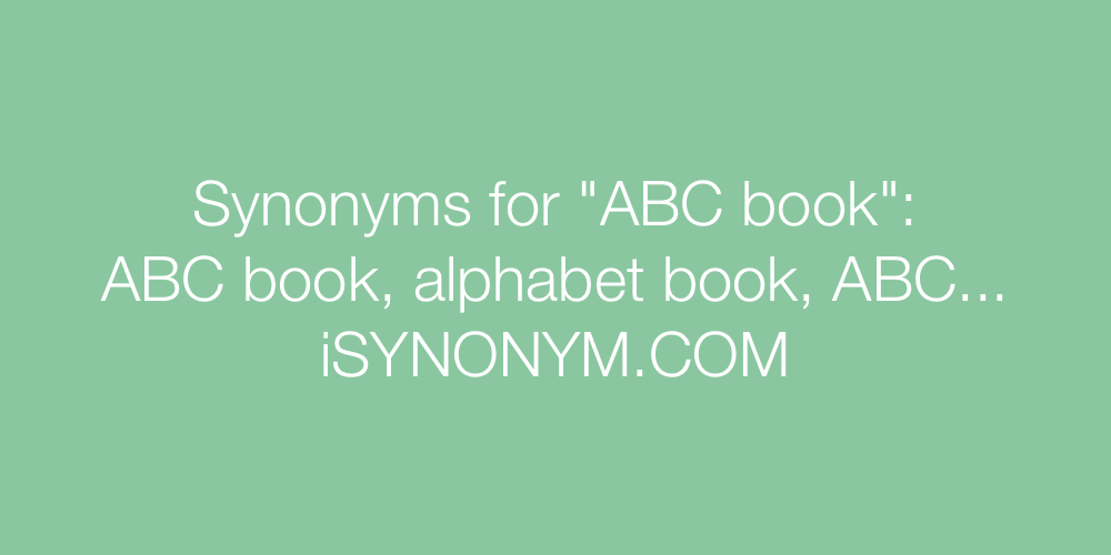 Synonyms ABC book