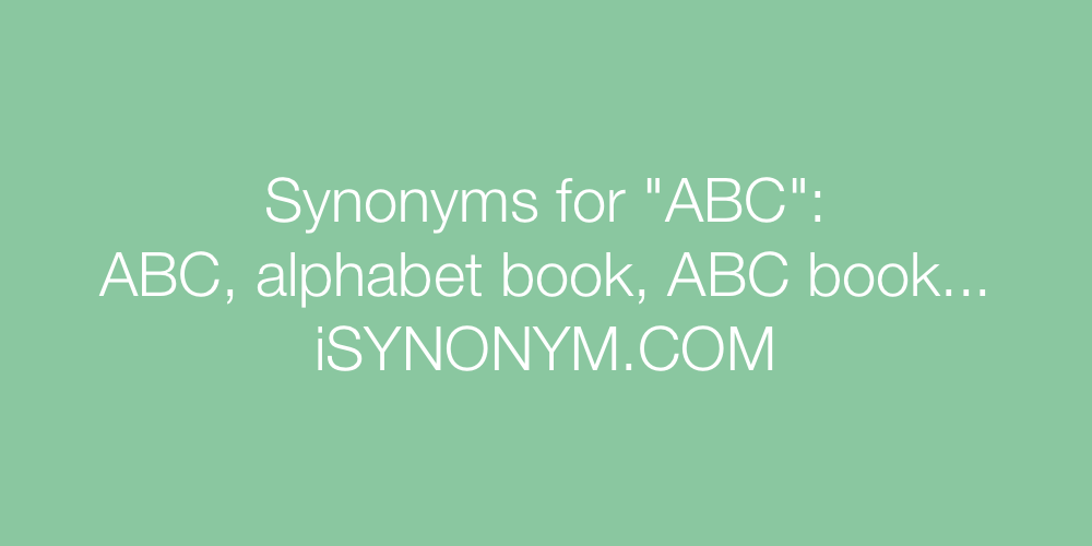 Synonyms ABC