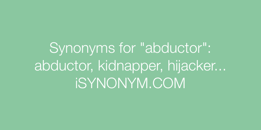 Synonyms abductor