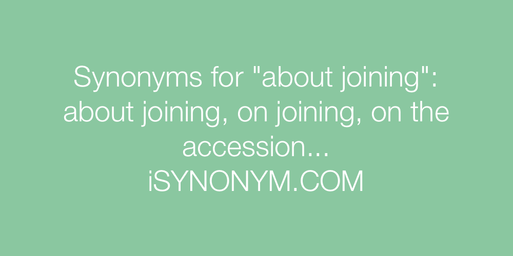 Synonyms about joining