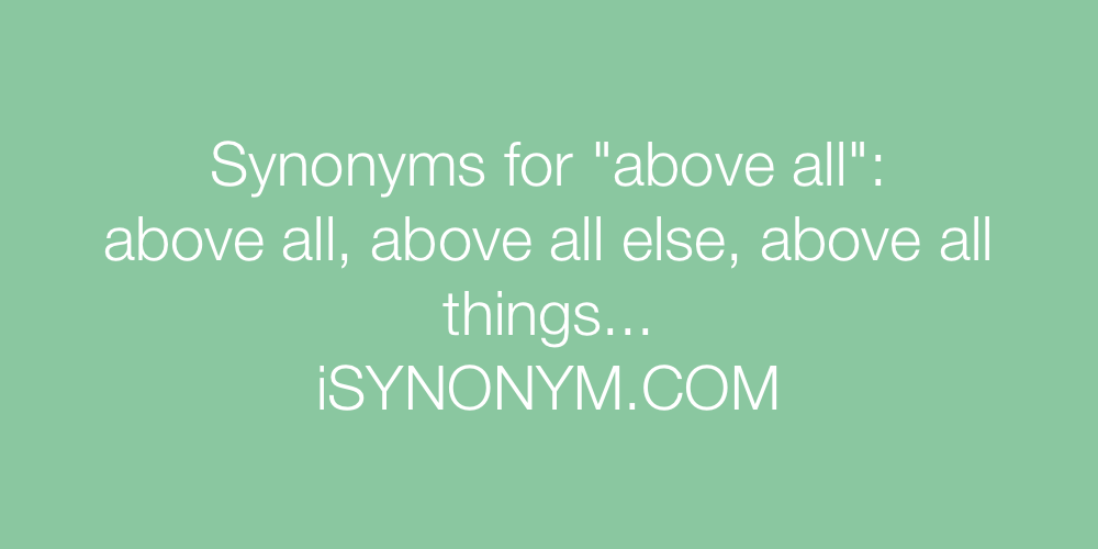 Synonyms above all
