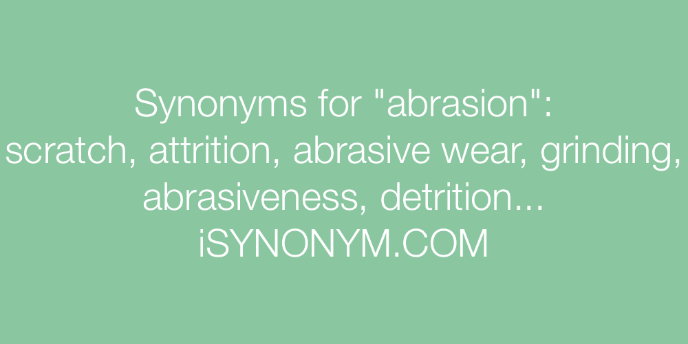 Synonyms abrasion