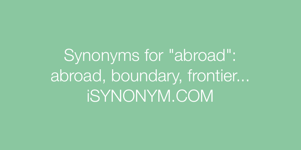 Synonyms abroad