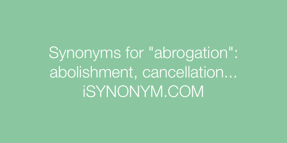 Synonyms abrogation