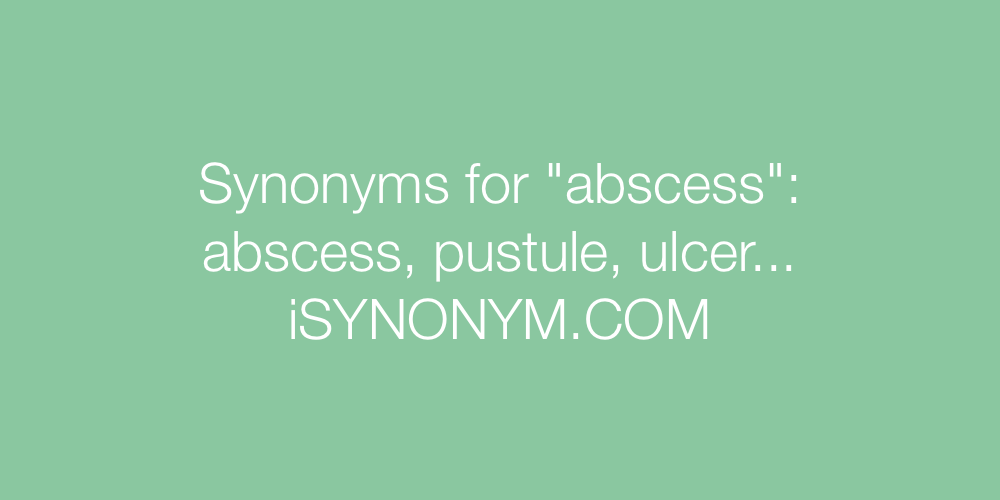 Synonyms abscess