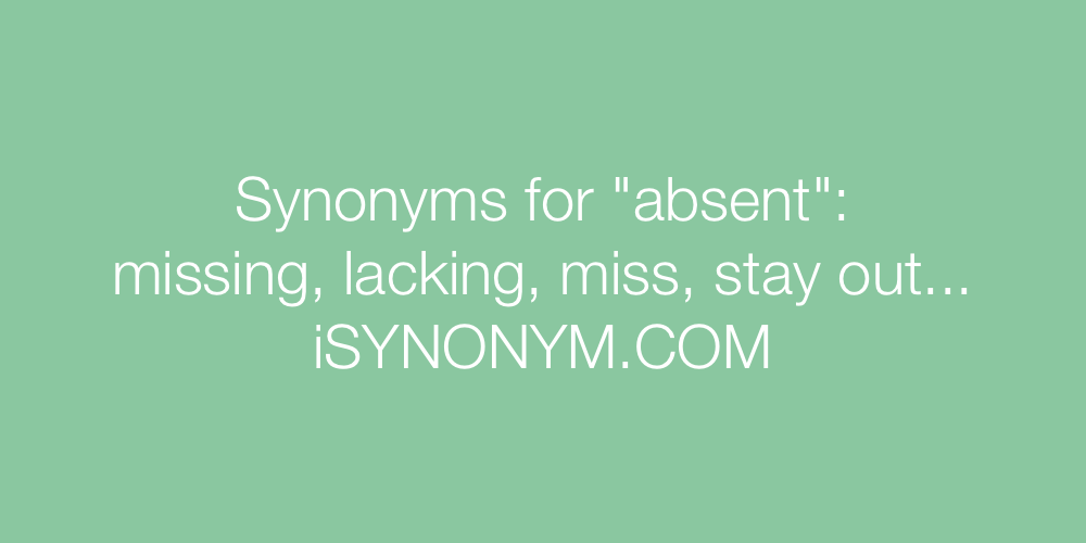 Synonyms absent