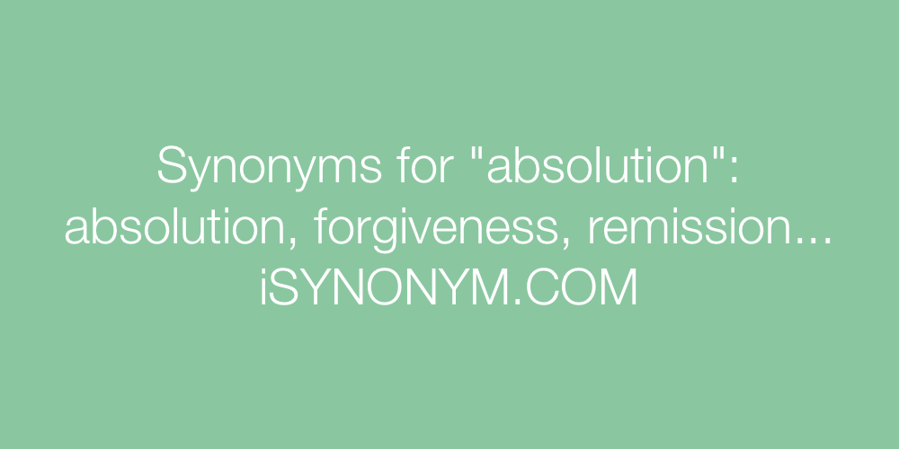 Synonyms absolution