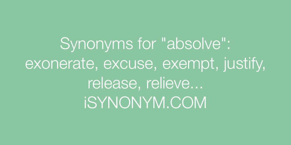 Synonyms absolve