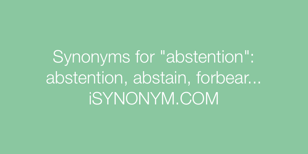 Synonyms abstention
