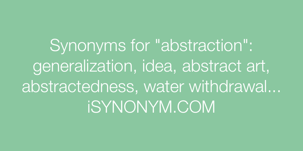 Synonyms abstraction
