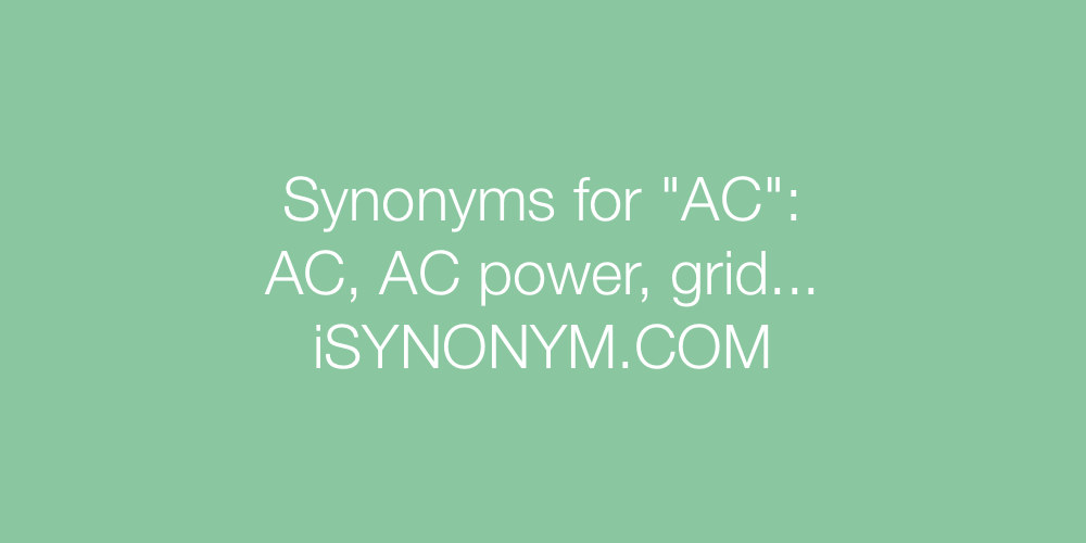 Synonyms AC