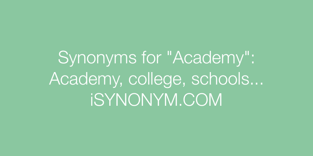 Synonyms Academy