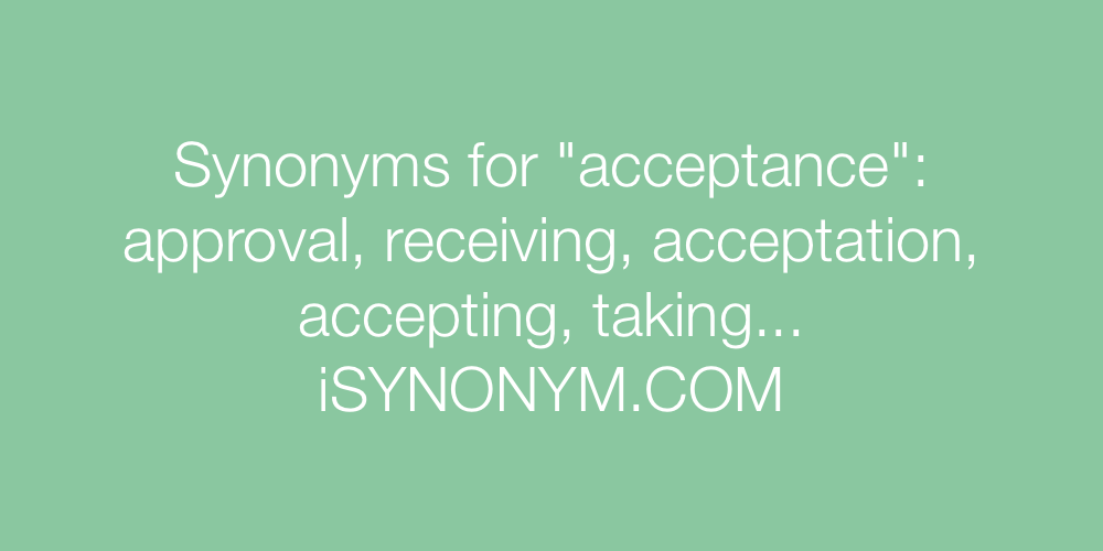 Synonyms acceptance