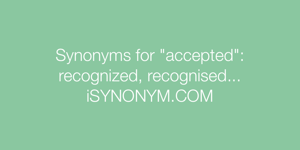 Synonyms accepted