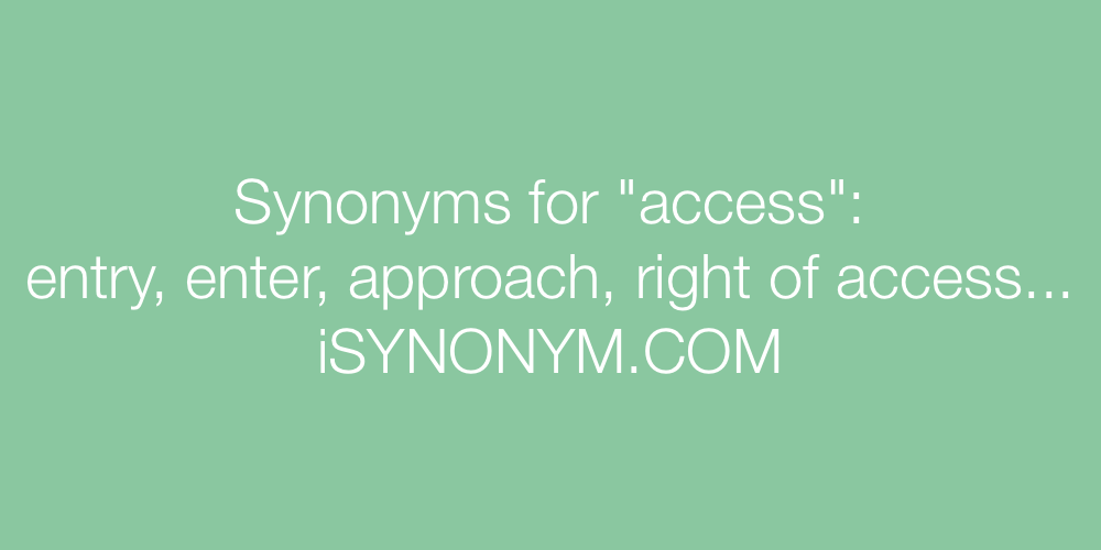 Synonyms access