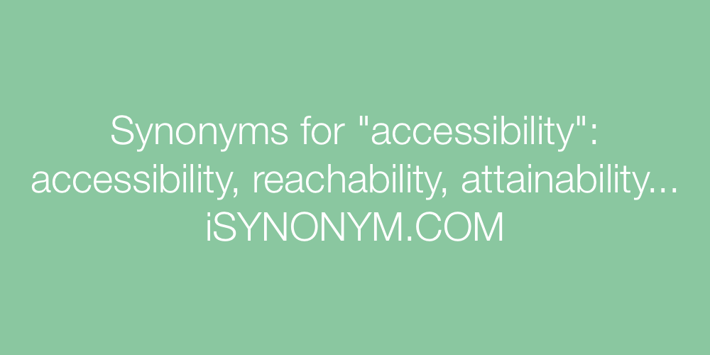 Synonyms accessibility