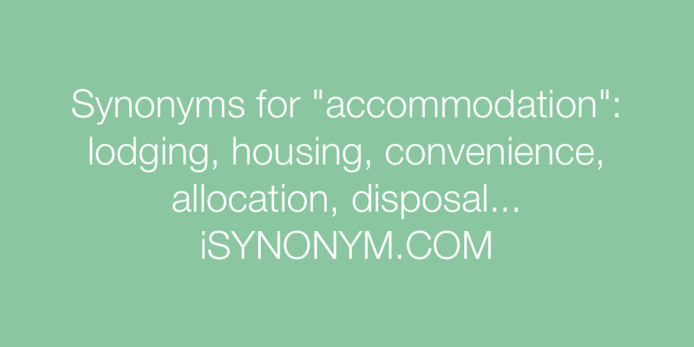 Synonyms accommodation