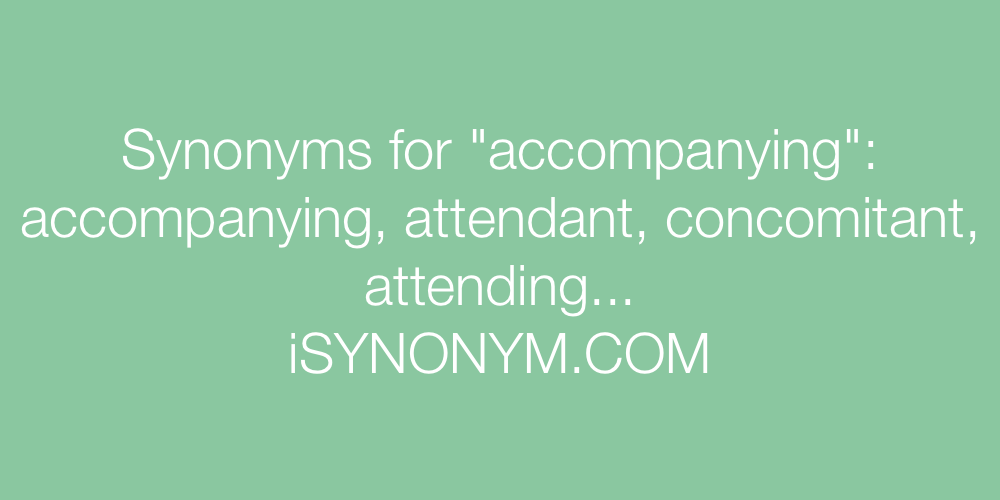 Synonyms accompanying
