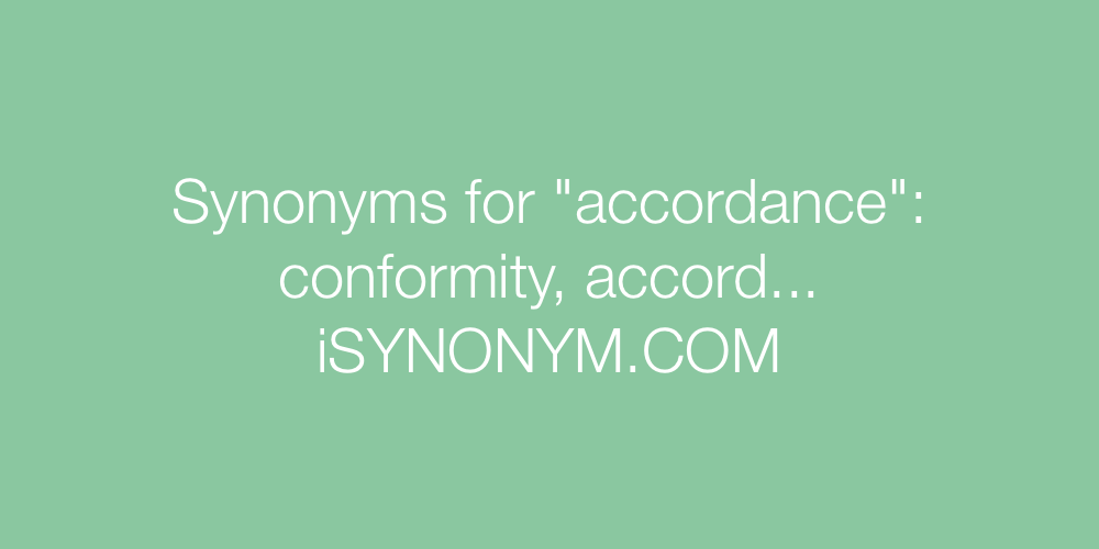 Synonyms accordance