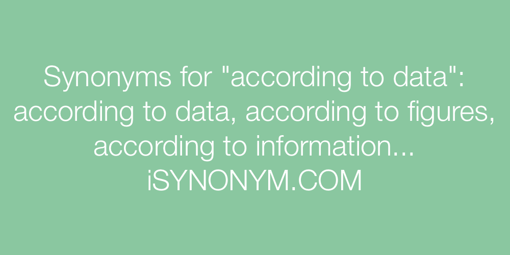 Synonyms according to data