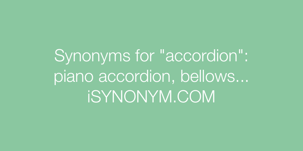 Synonyms accordion