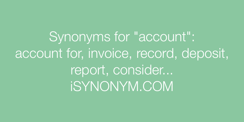 Synonyms account