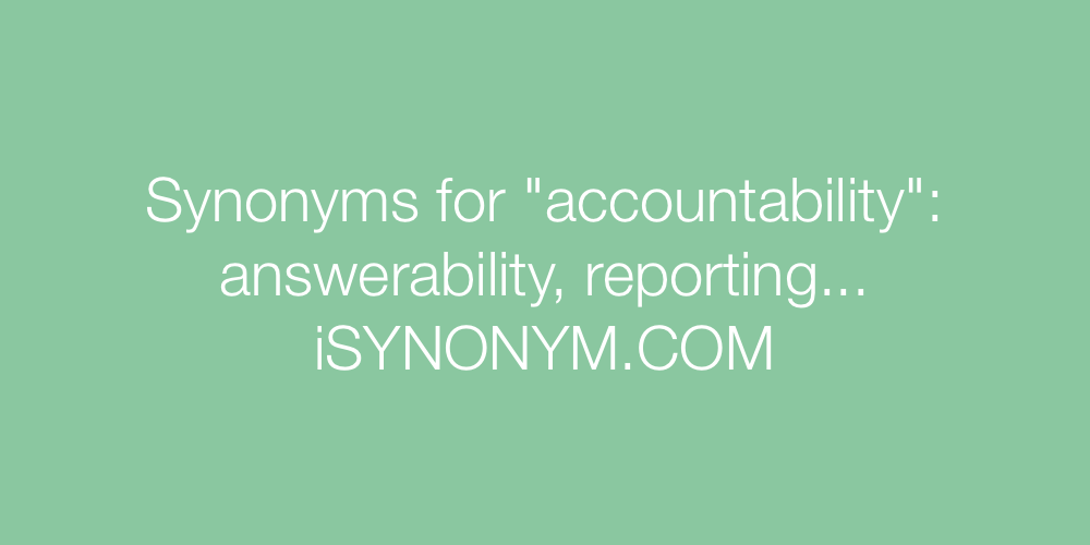 Synonyms accountability