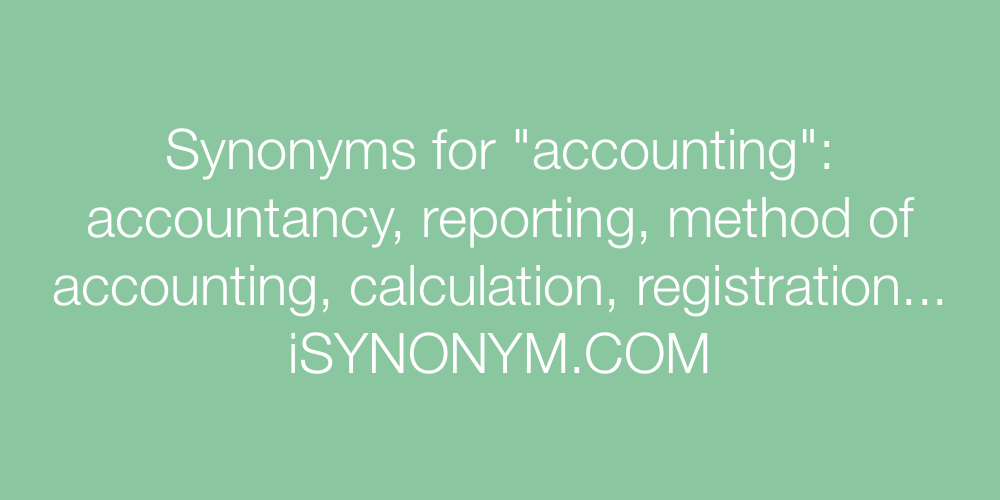 Synonyms accounting
