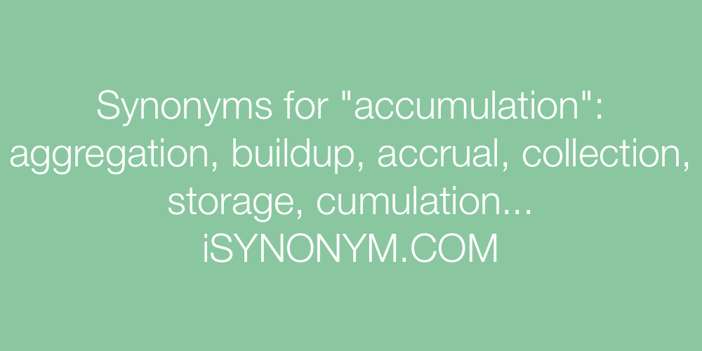 Synonyms accumulation