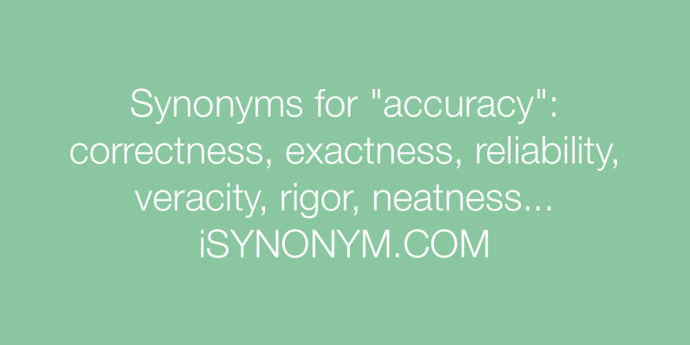 Synonyms accuracy