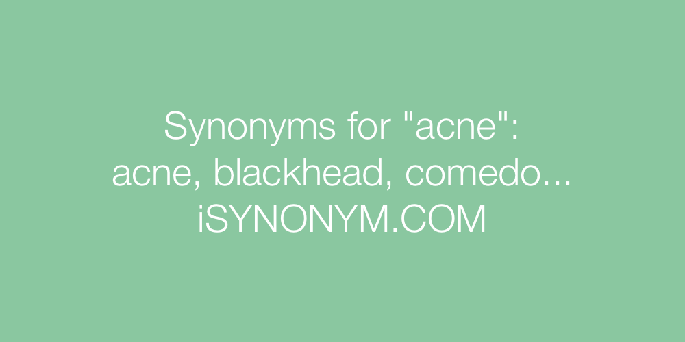 Synonyms acne