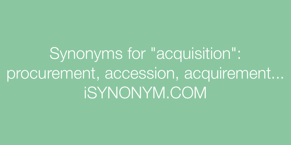 Synonyms acquisition