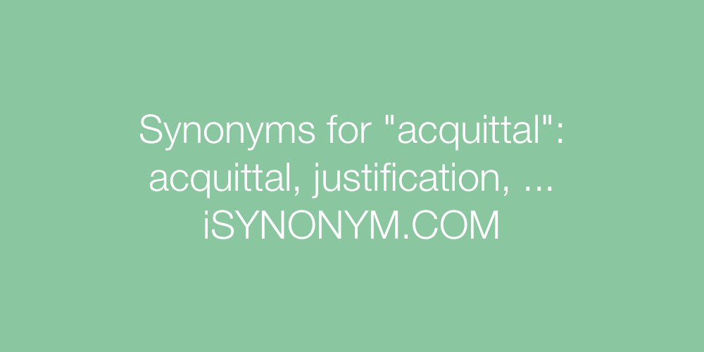 Synonyms acquittal