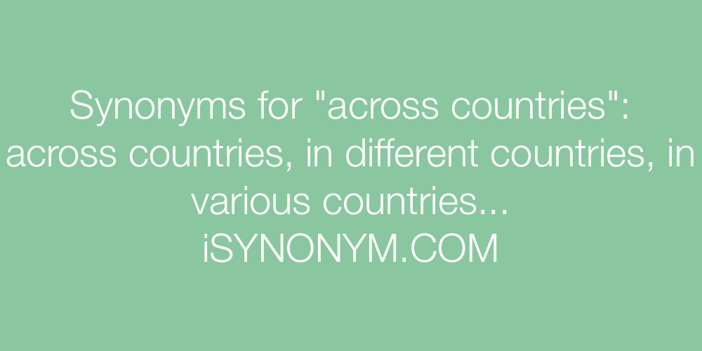 Synonyms across countries