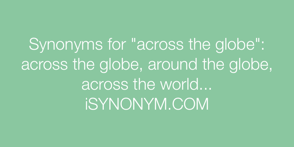 Synonyms across the globe