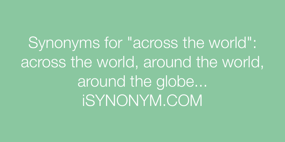 Synonyms across the world