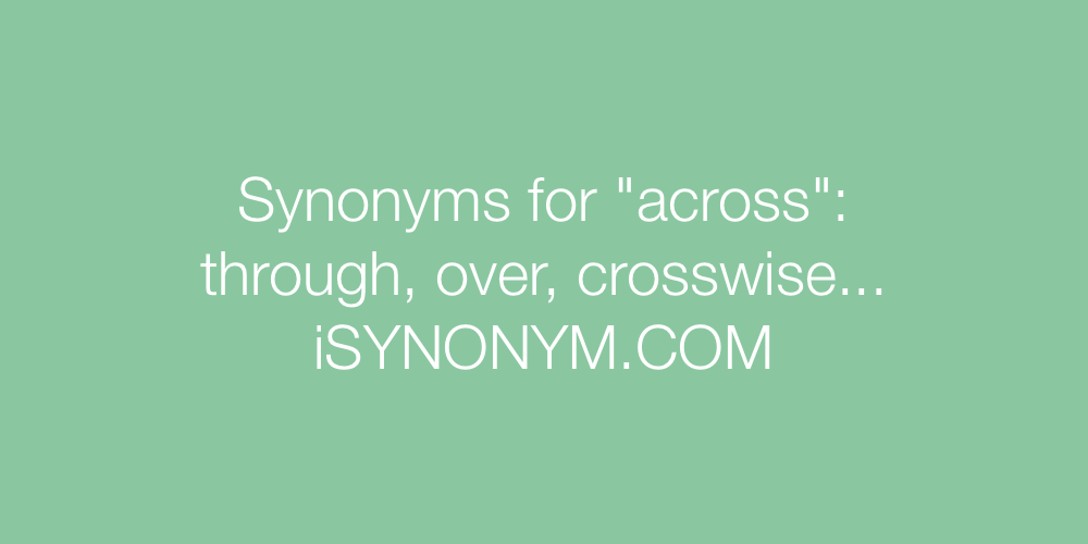 Synonyms across