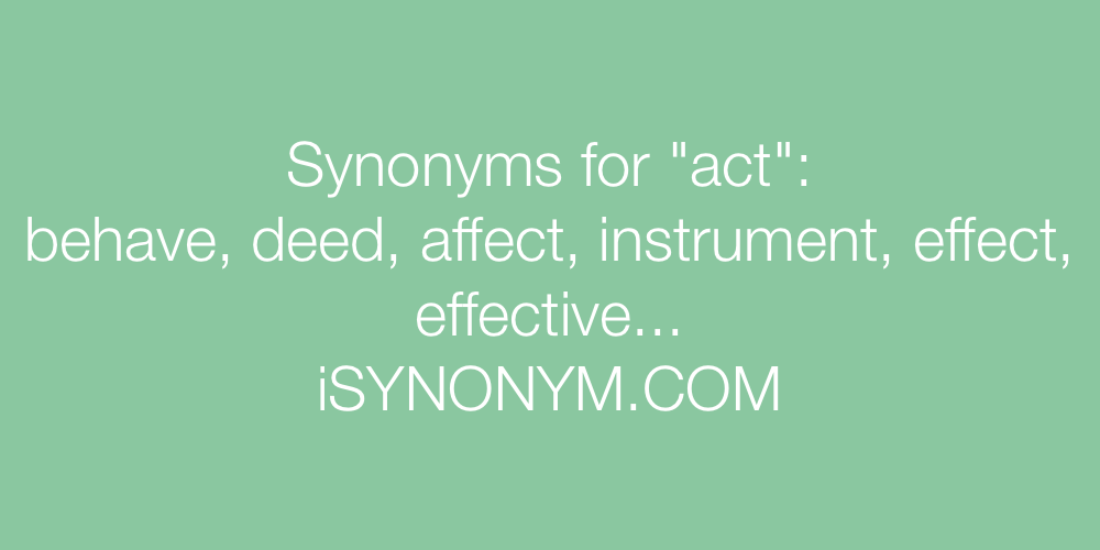 Synonyms act
