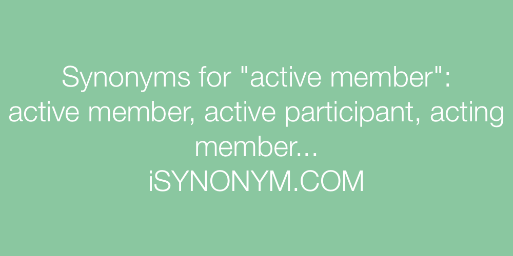 Synonyms active member