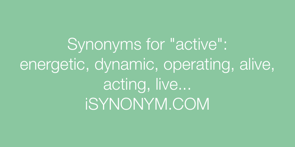 Synonyms active