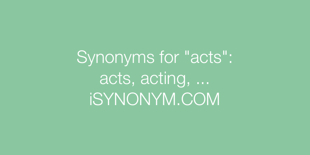 Synonyms acts
