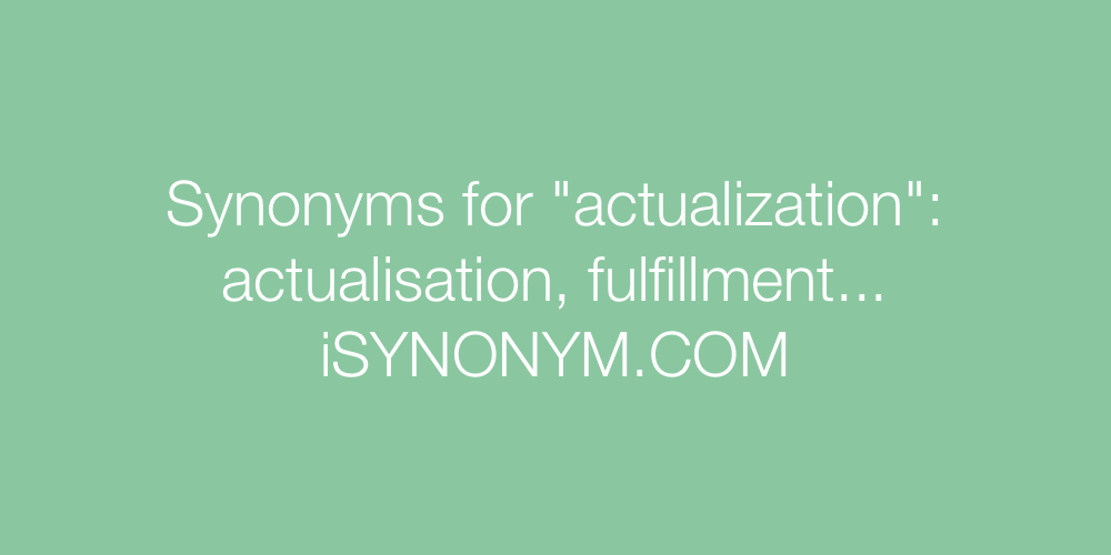 Synonyms actualization