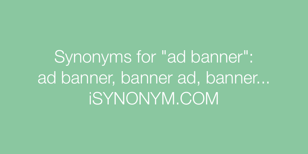 Synonyms ad banner