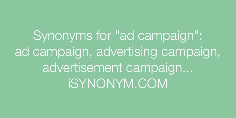 Synonyms ad campaign