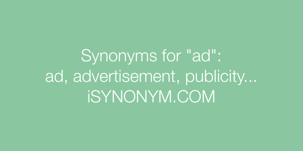 Synonyms ad