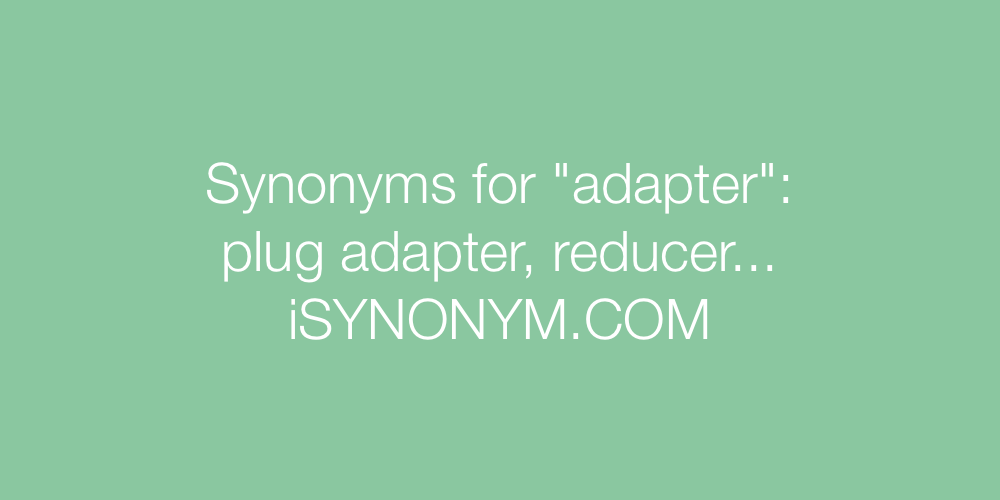 Synonyms adapter