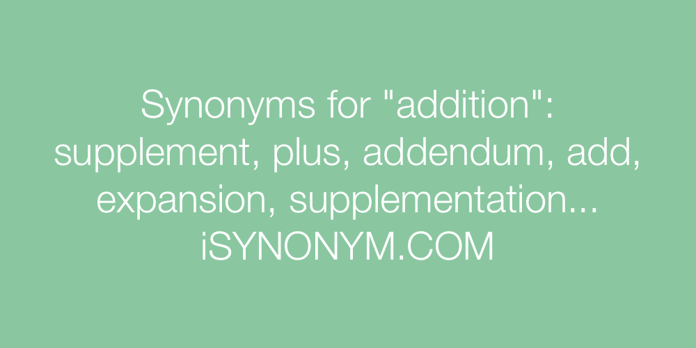 Synonyms addition