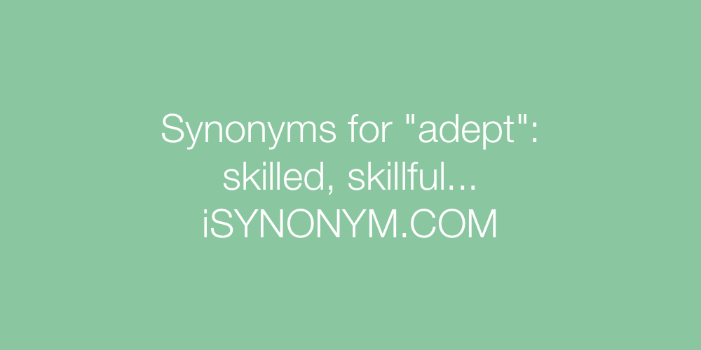 Synonyms adept