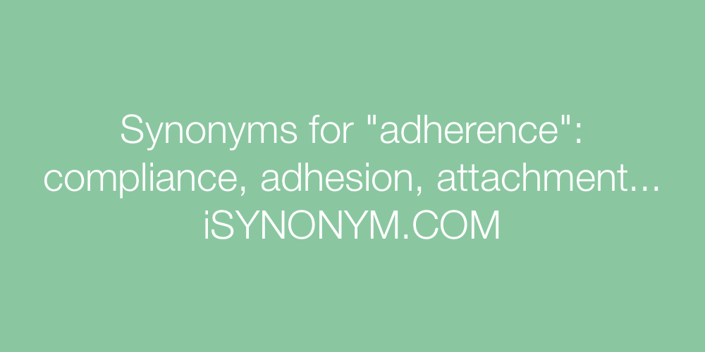 Synonyms adherence
